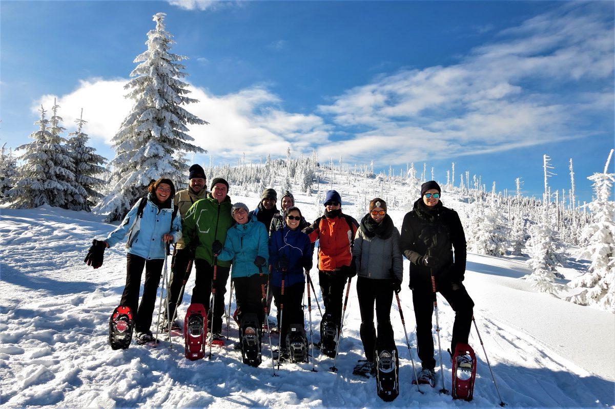 Schneeschuhwandern Dreisessel Bayerischer Wald Schneeschuhtouren geführte Schneeschuhwanderungen Stefan Berger